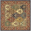 Handmade Heritage Heirloom Multicolor Wool Rug (10' Square)