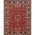Safavieh Handmade Heritage Birj Red/ Navy Wool Rug (5' x 8')