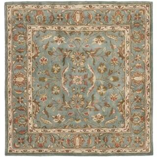 Safavieh Handmade Heritage Nir Blue Wool Rug (8' Square)