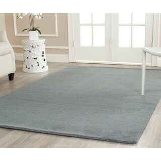 Safavieh Loomed Knotted Himalayan Solid Blue Wool Rug (8'9 x 12')