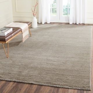Safavieh Loomed Knotted Himalayan Solid Grey Wool Rug (8'9 x 12')