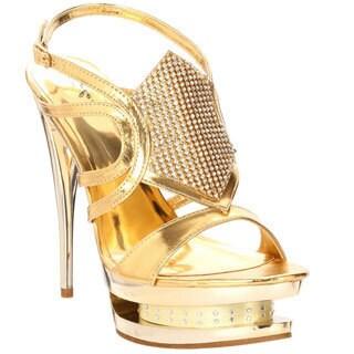 Celeste Women's 'Alude-01' Embellished Platform Heels