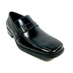 Delli Aldo Men's Square Toe Buckle Vamp Loafers