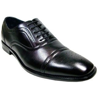 Delli Aldo Men's Wing Tip Lace-up Oxford Shoes