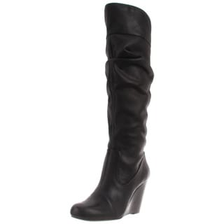 Jessica Simpson Women's 'Pasha' Black Leather Knee-high Boots