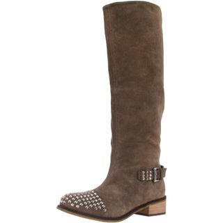Kelsi Dagger Women's 'Rover' Taupe Suede Studded Toe Boots