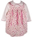Rare Editions Girl's Rose Print Jumper Dress
