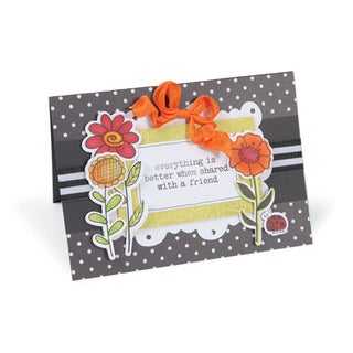 Sizzix Framelits Garden Flowers by Hero Arts Die Set with Stamps (Pack of 5)
