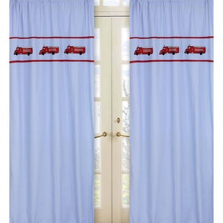 Frankie's Firetruck 84-inch Curtain Panel Pair