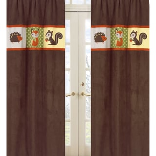 Forest Friends 84-Inch Curtain Panel Pair