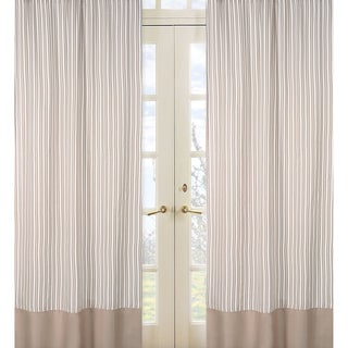 Taupe Stripe 84-inch Curtain Panel Pair