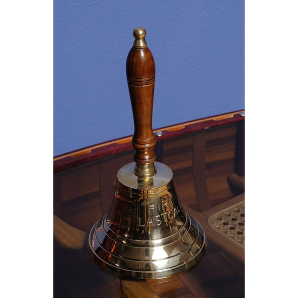 Old Modern Handicrafts 'Fire Last Call' Brass Hand Bell