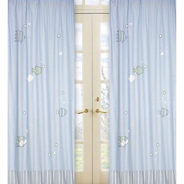 Go Fish 84-Inch Curtain Panel Pair