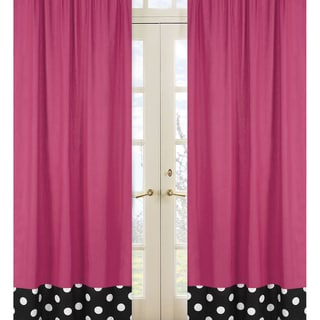 Hot Dot Modern 84-inch Curtain Panel Pair
