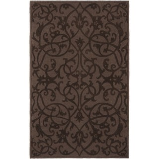 Handmade Irongate Brown New Zealand Wool Rug (8'3 x 11')