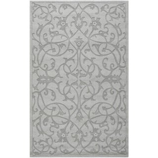 Handmade Irongate Grey New Zealand Wool Rug (4' x 6')