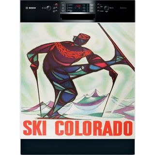 Appliance Art 'Ski Colorado' Vintage Dishwasher Cover