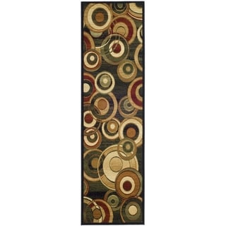 Safavieh Lyndhurst Circ Black/ Multi-colored Rug (2'3 x 22')