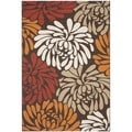 Safavieh Veranda Piled Chocolate Brown/ Terracotta Rug (4' x 5' 7)