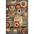 Safavieh Lyndhurst Circ Grey/ Multi-colored Rug (6' x 9')