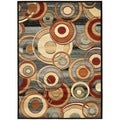 Safavieh Lyndhurst Circ Grey/ Multi-colored Rug (8' x 11')