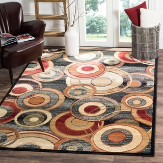 Safavieh Lyndhurst Circ Grey/ Multi-colored Rug (8'11 x 12')
