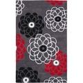 Safavieh Handmade Avant-garde Daisies Dark Grey Rug (9' x 12')