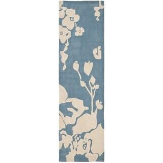 Safavieh Handmade Avant-garde Summer Blue Rug (2'6 x 12')