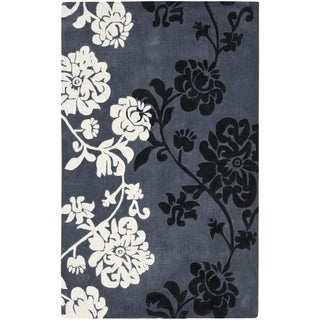 Safavieh Handmade Avant-garde Shadows Dark Grey Rug (9' x 12')