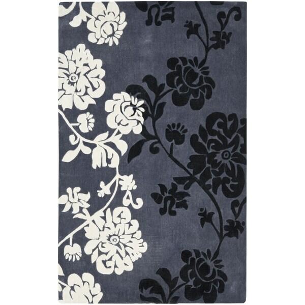 Safavieh Handmade Avant-garde Shadows Dark Grey Rug (9' x 12')