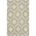 Handmade Avant-garde Morocco Beige Rug (9' x 12')
