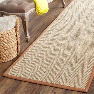 Safavieh Hand-woven Sisal Natural/ Medium Brown Seagrass Rug (2' 6 x 18')