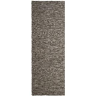 Safavieh Handwoven Natural Fiber Doubleweave Sea Grass Grey Rug (2' 6 x 8')