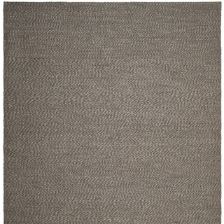 Handwoven Natural Fiber Doubleweave Sea Grass Grey Rug (8' Square)