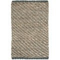 Chucky Natural Fibers Sisal Natural/ Blue Rug (3' x 5')