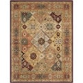 Handmade Persian Legend Diamonds Multi/ Rust N.Z. Wool Rug (6' x 9')