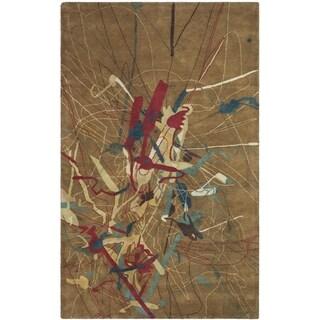 Safavieh Handmade Rodeo Drive Deco Brown Wool Rug (8' x 11')