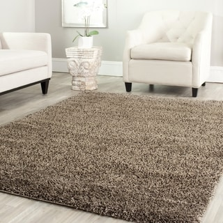 Safavieh California Cozy Solid Mushroom Shag Rug (11' x 15')