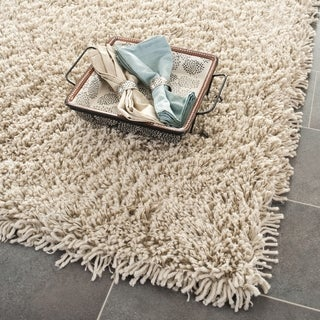 Hand-woven Bliss Taupe Shag Rug (9' x 9')