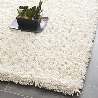 Hand-woven Bliss Ivory Shag Rug (9' x 9')