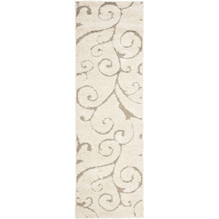 Ultimate Cream/ Beige Shag Rug (2'3 x 10')