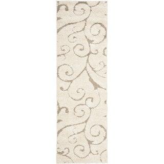 Safavieh Ultimate Cream/ Beige Shag Rug (2'3 x 10')