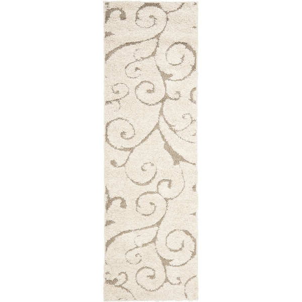 Safavieh Florida Ultimate Shag Cream/ Beige Rug (2'3 x 10')
