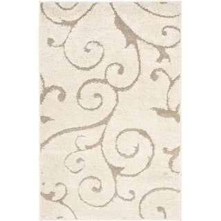 Safavieh Ultimate Cream/ Beige Shag Rug (2'3 x 4')