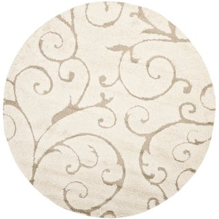 Ultimate Cream/ Beige Shag Rug (8' Round)
