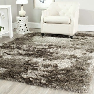 Safavieh Silken Sable Brown Shag Rug (10' x 14')