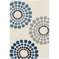 Handmade Soho Celeste Ivory New Zealand Wool Rug (2'6 x 4')