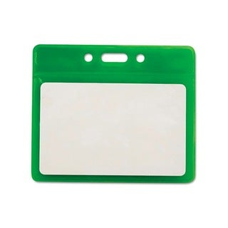 Green Horizontal Reflective Badge Holders (Pack of 25)
