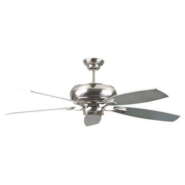 52-Inch Five-Blade Satin Nickel Ceiling Fan