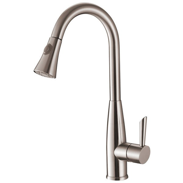 ruvati rvf1228st stainless steel pullout spray kitchen vigo stainless steel pull down spray kitchen faucet with